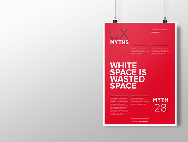 Myth 28: White space is wasted space