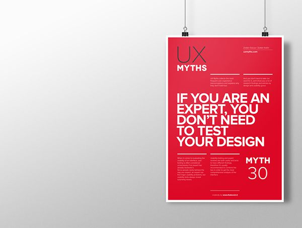 Myth 30: If you are an expert, you don't need to test your design