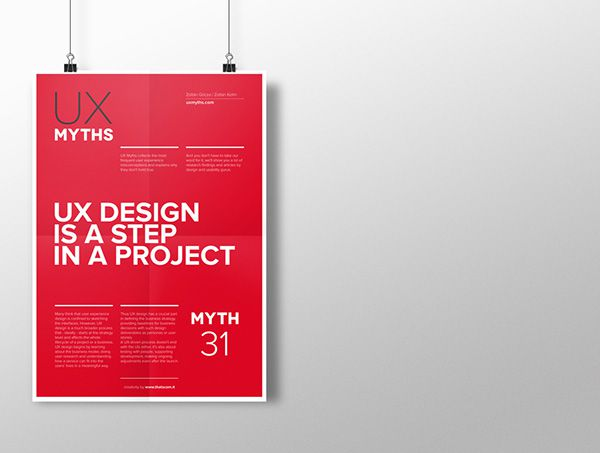 Myth 31: UX design is a step in a project