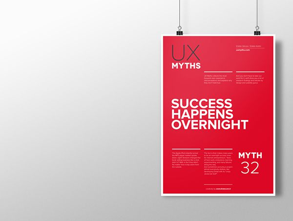 Myth 32: Success happens overnight