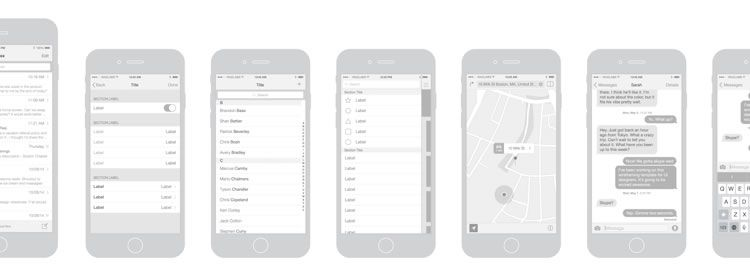 Freebie: iPhone 6 Vector Wireframing Toolkit