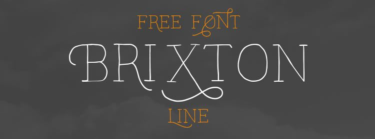 Free Font: Brixton Line and Swash