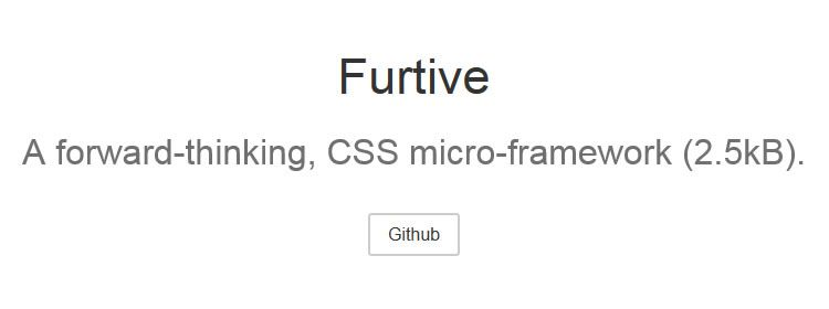 Furtive CSS, a lightweight, mobile-first, CSS micro-framework