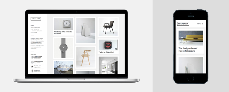 Fukasawa free wordpress minimal masonry blog theme for photographers