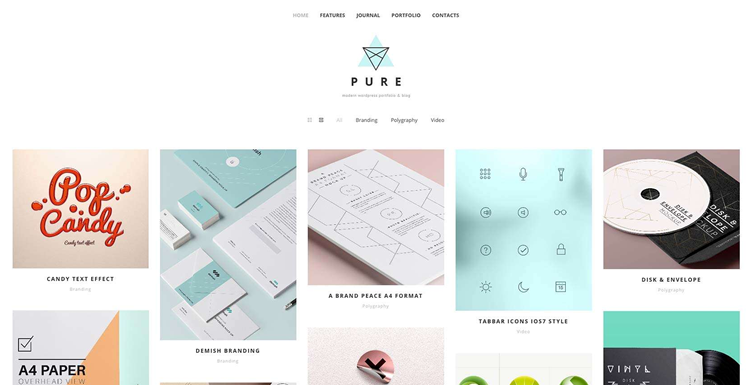 Pure simple wordpress free playful theme creative professionals