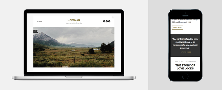 Hoffman stylish minimal WordPress theme free bloggers