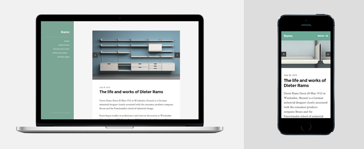 Rams clean minimalist theme wordpress free style bloggers
