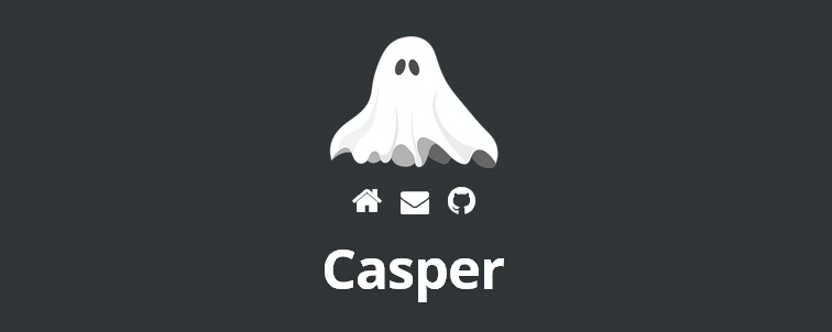 Casper port Ghost super-minimal Casper theme free WordPress