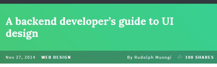 A backend developer's guide to UI design by Rudolph Musngi