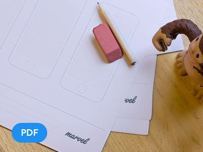 Freebie: Apple Watch, iPhone, iPad & Android sketch paper