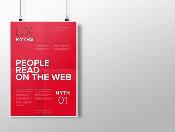 Posters That Debunk Common UX Misconceptions