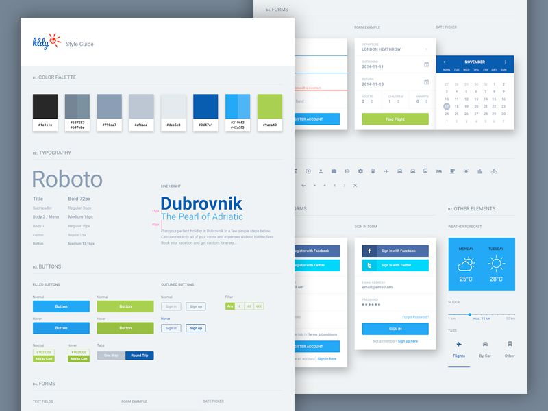 UI Style Guide by Greg Dlubacz