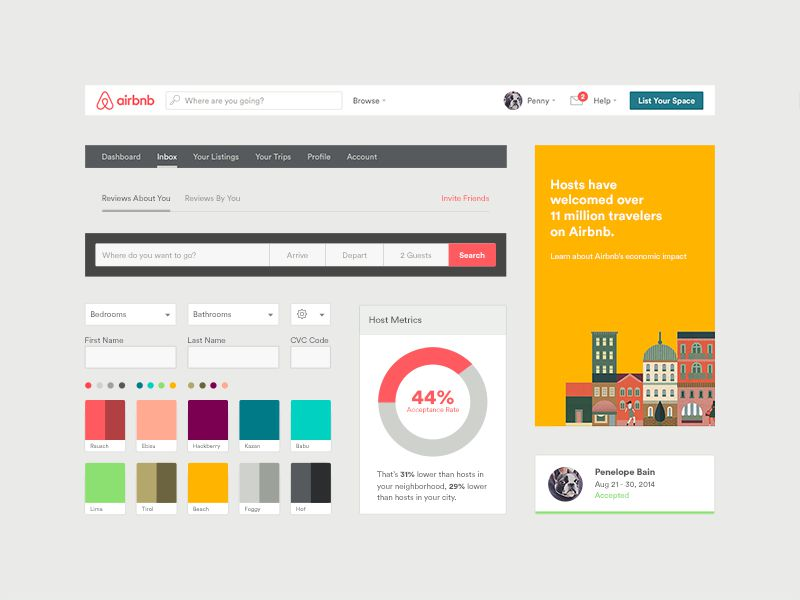 Airbnb UI Toolkit by Derek Bradley