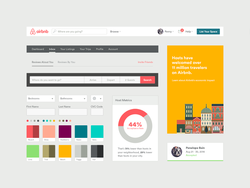Inspiring Examples Of UI Style Guides - Best tile design websites