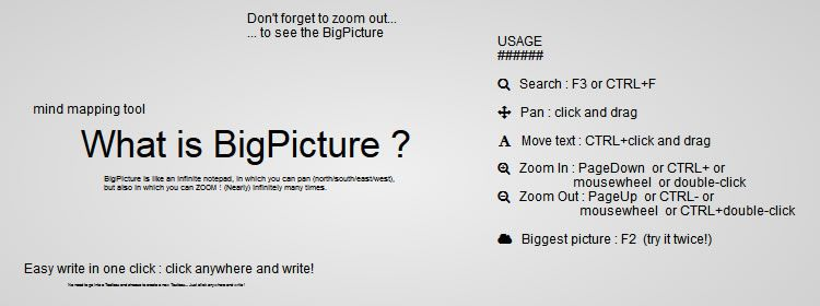 bigpicture.js, a JS library that allows infinite panning and infinite zooming in HTML pages