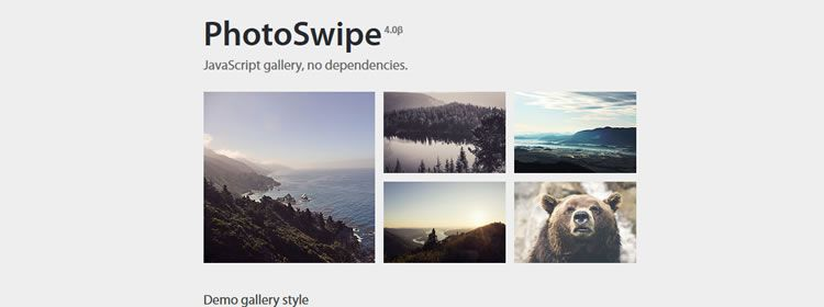 PhotoSwipe, a JavaScript image gallery for mobile and desktop, with gesture support