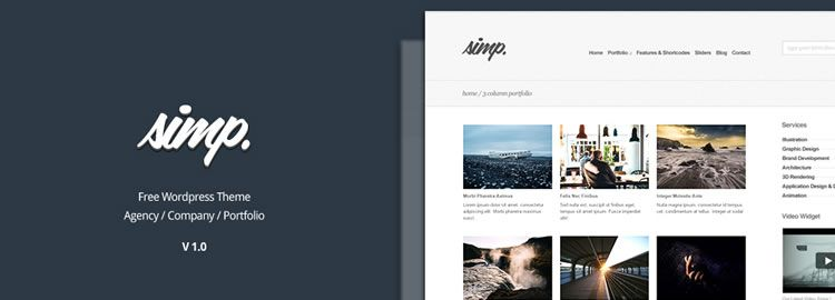 Simp, a free Agency WordPress Theme