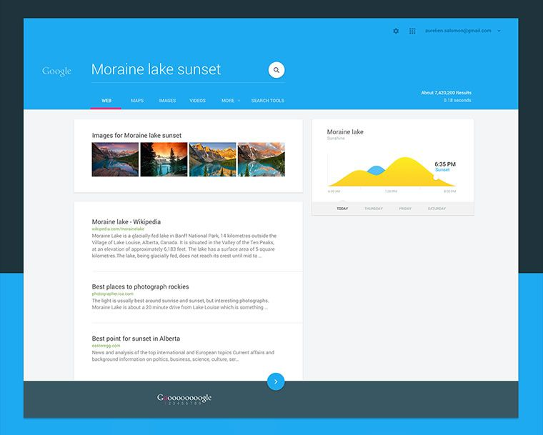 What Google would look like with a Material Design makeover