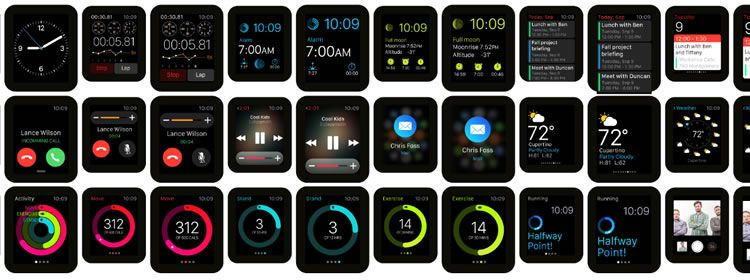 Freebie: Apple Watch GUI for Illustrator