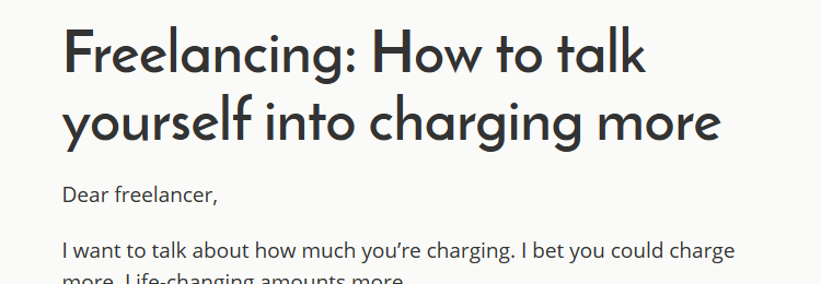 Freelancing: How to talk yourself into charging more by Andy Adams