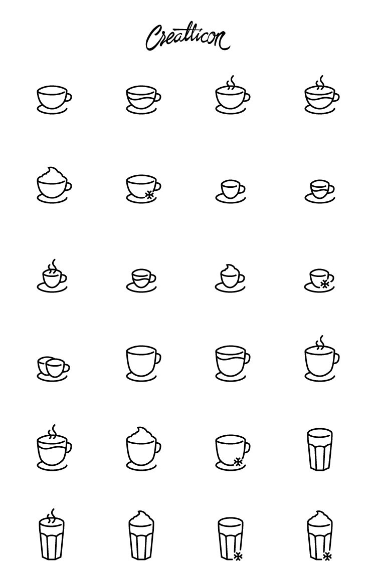coffee icon glyph eps svg ai png light dark
