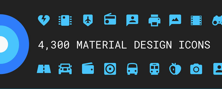 Material Design Icons icons SVG PNG Webfont formats free