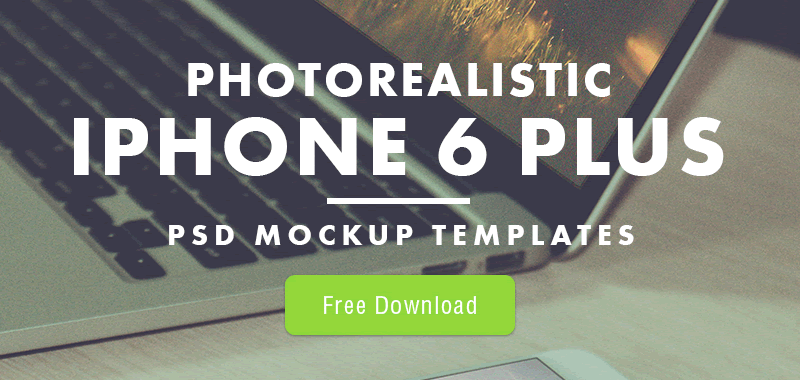 Photorealistic iPhone 6 Plus Mockup Templates
