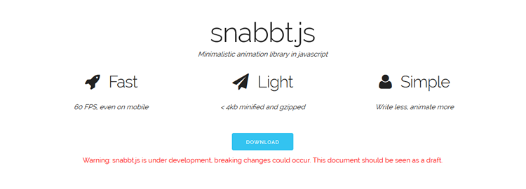 snabbt.js, a minimalistic Javascript animation library that will translate, rotate, scale, skew and resize elements
