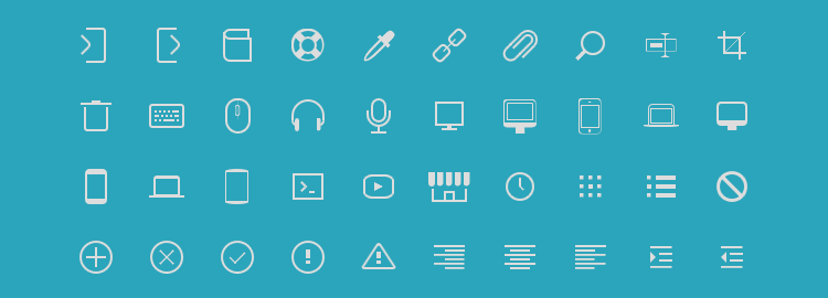 icono, a set of pure CSS icons with only one element