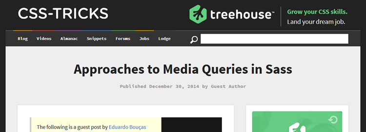 Approaches to Media Queries in Sass by Eduardo Bouças
