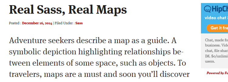 How to Map in Sass