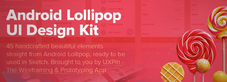 Freebie: Android Lollipop UI Kit
