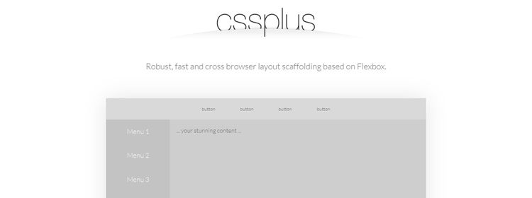 cssPlus cross browser layout scaffolding based Flexbox