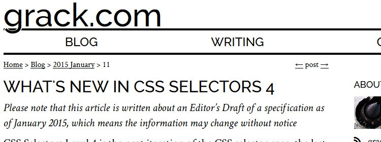 What's new in CSS Selectors 4