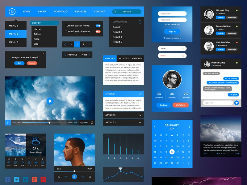 Freebie: Retina UI Kit
