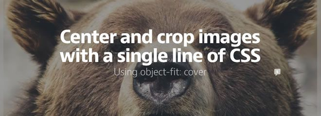 Center and crop images with a single line of CSS