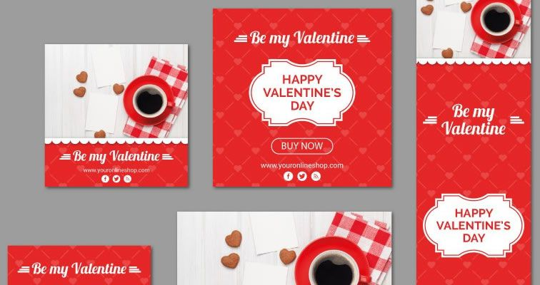 A Valentine's Day Vector Banner Kit