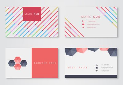 30 free modern business card templates reheart Gallery