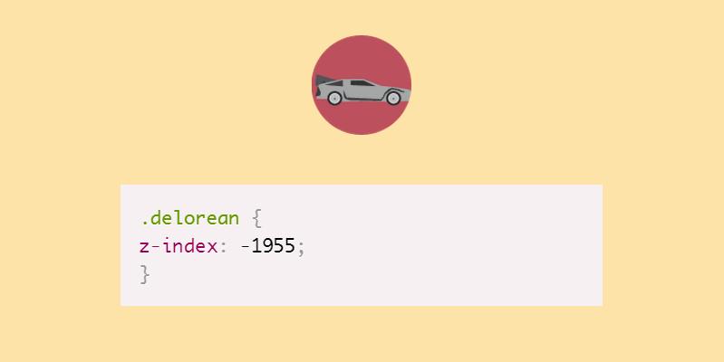 delorean CSS pun