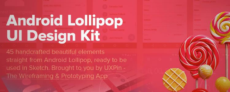 Android Lollipop UI Kit