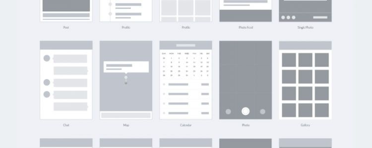 Wireframe Template for Apps