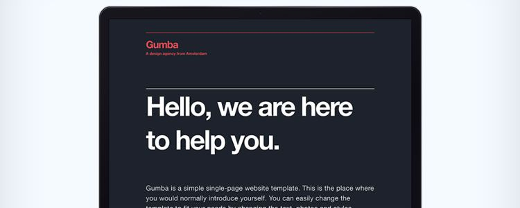 Gumba Single-Page Website Template