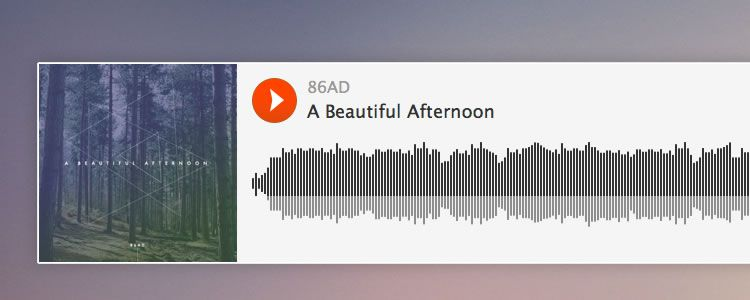 Soundcloud Embed Player UI