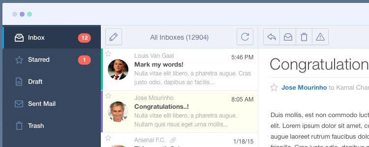 Mail App UI
