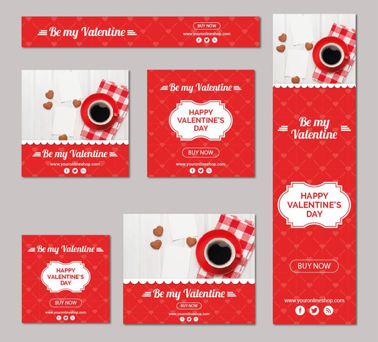 Valentine's Day Vector Banner Kit