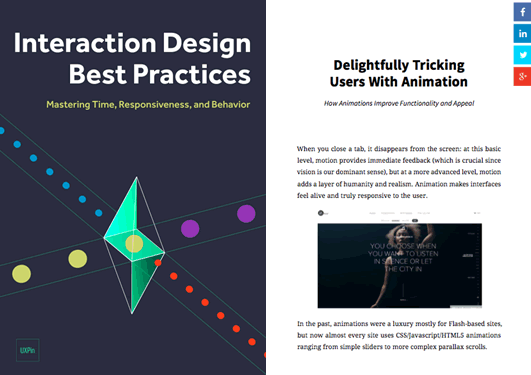 Free Ebook: Interaction Design Best Practices Time & Behavior