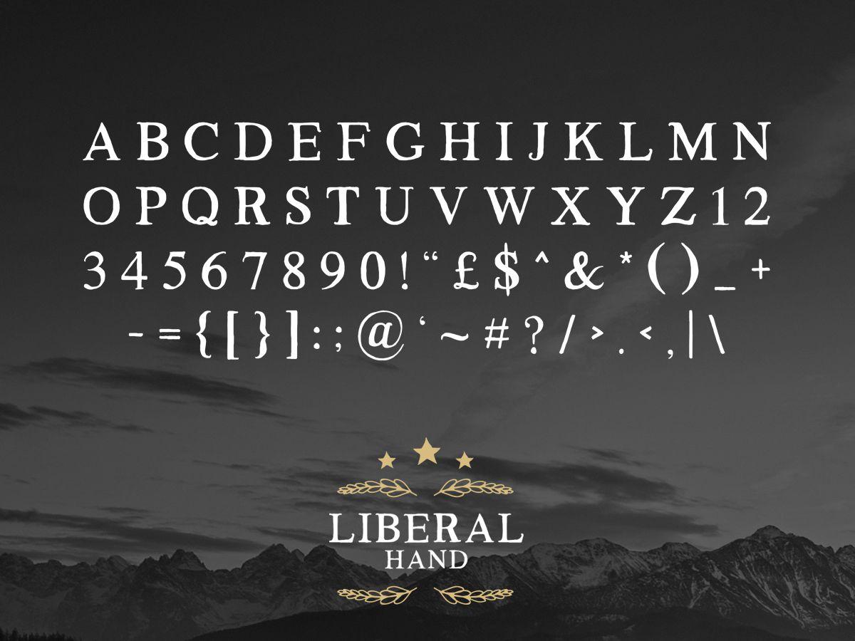Liberal Hand freeserif font