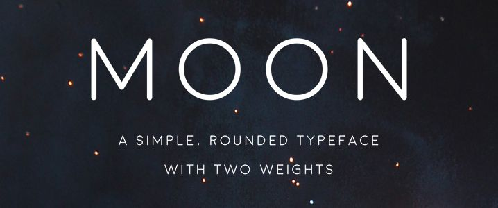 Moon - Simple Rounded Typeface