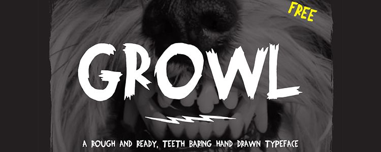 Growl - Hand-Drawn Typeface