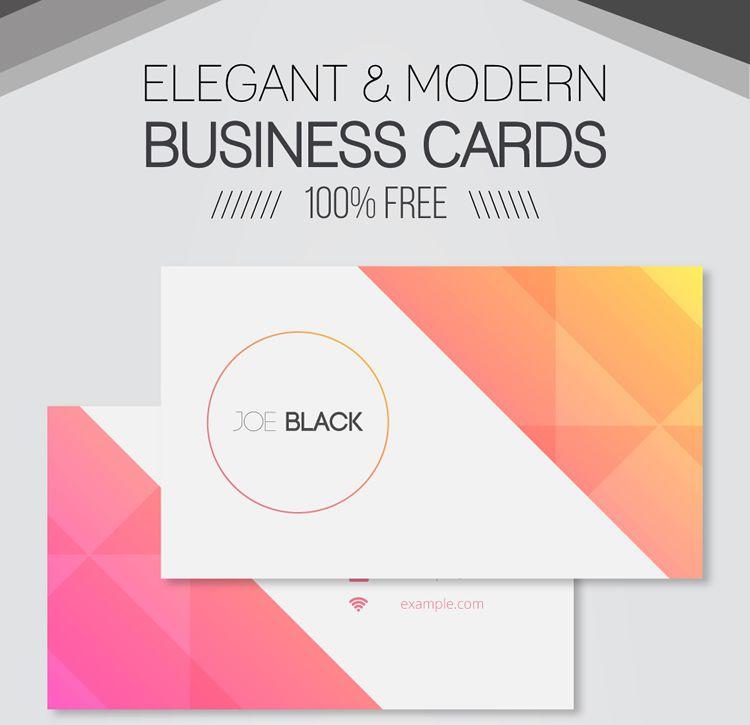 Freebie: 30 Elegant & Modern Business Card Templates